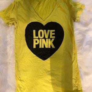 Pink yellow tee
